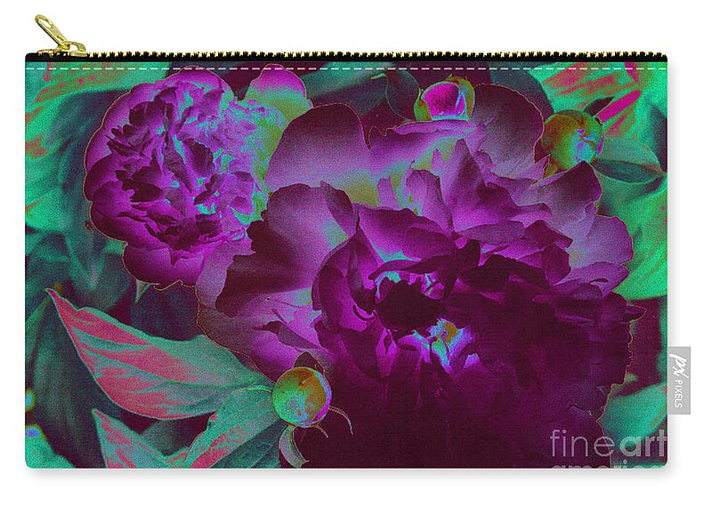 Peony Carry-all Pouch featuring the photograph Peony Passion by First Star Art