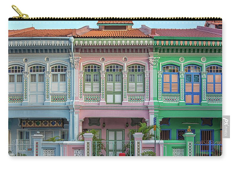 Tranquility Carry-all Pouch featuring the photograph Peranakan Architecture by Edward Tian