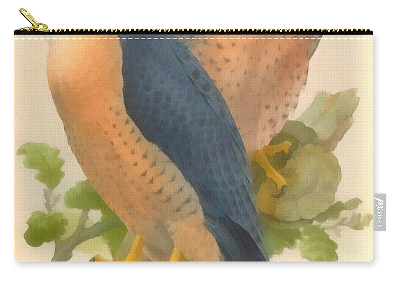 Peregrine Falcon Carry-all Pouch featuring the digital art Peregrine Falcon by John Gould