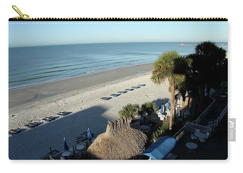 Beach Carry-all Pouch featuring the photograph Perfect Beach Day by Christiane Schulze Art And Photography