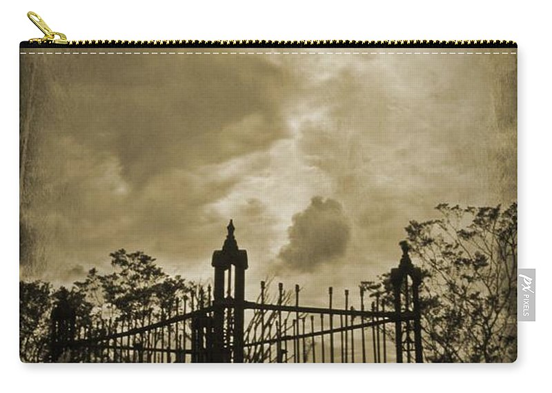 Perfect Halloween Card Carry-all Pouch featuring the photograph Perfect Halloween Card by John Malone
