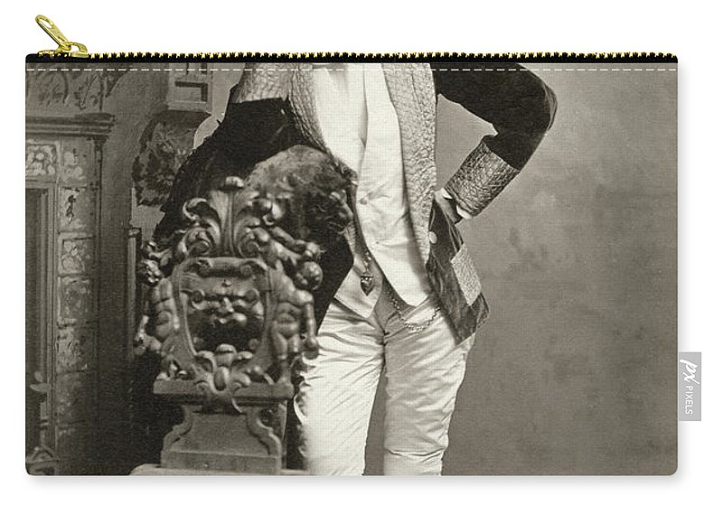 1890 Carry-all Pouch featuring the photograph Performer, C1890 by Granger