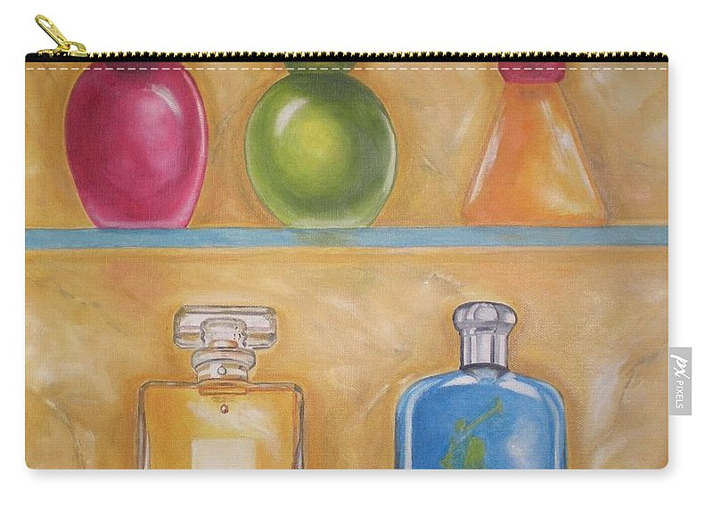 Perfume Carry-all Pouch featuring the painting Perfume by Graciela Castro
