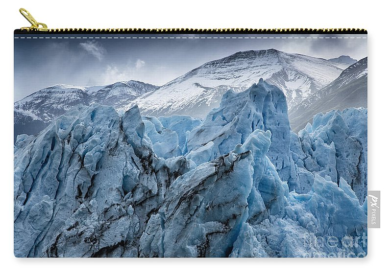 Patagonia Carry-all Pouch featuring the photograph Perito Moreno Close Up by Timothy Hacker