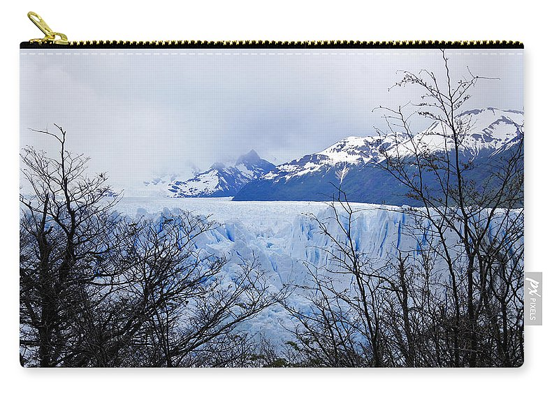 Argentina Carry-all Pouch featuring the photograph Perito Moreno Glacial Landscape by Michele Burgess