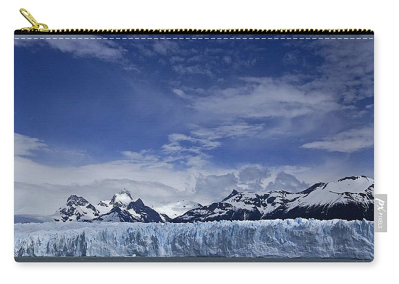 Argentina Carry-all Pouch featuring the photograph Perito Moreno Glacier And The Andes by Michele Burgess