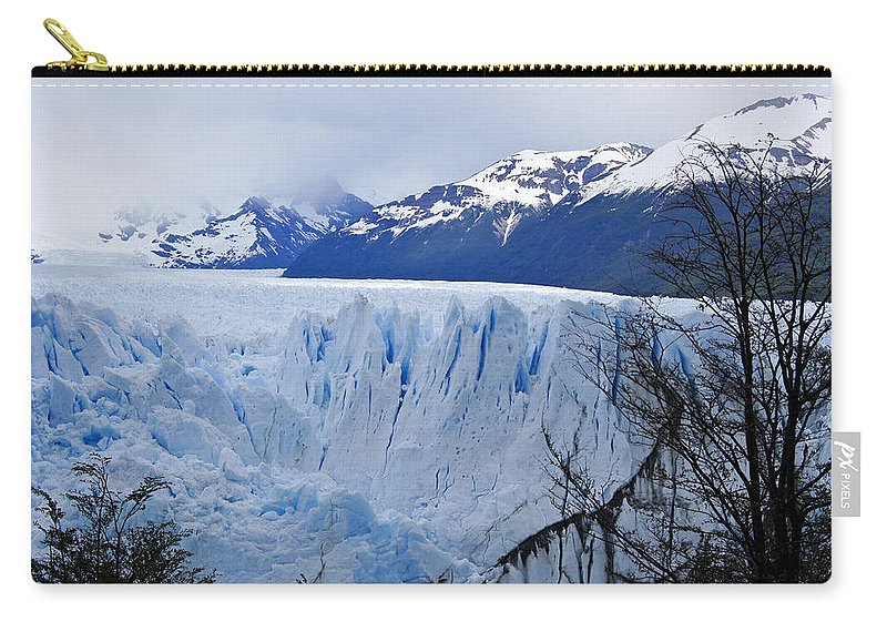 Argentina Carry-all Pouch featuring the photograph Perito Moreno Glacier by Michele Burgess