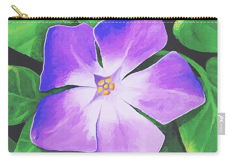 Floral Carry-all Pouch featuring the painting Periwinkle by Sophia Schmierer