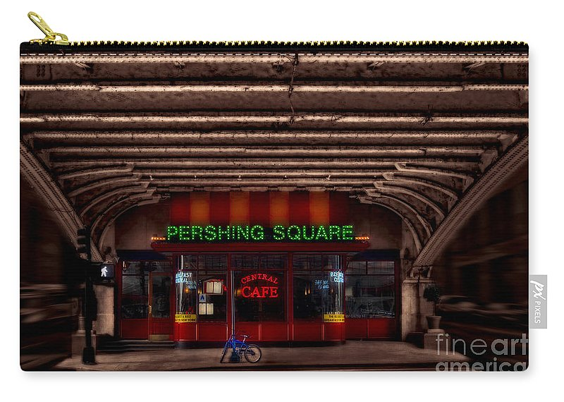 Pershing Square Cafe Carry-all Pouch featuring the photograph Pershing Square Cafe by Susan Candelario