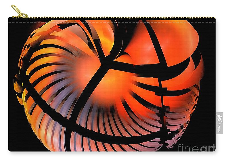 Apophysis Carry-all Pouch featuring the digital art Persimmon by Kim Sy Ok