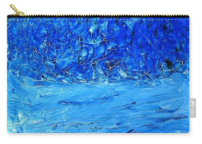 Blue Hues Carry-all Pouch featuring the painting Persistence by Luz Elena Aponte