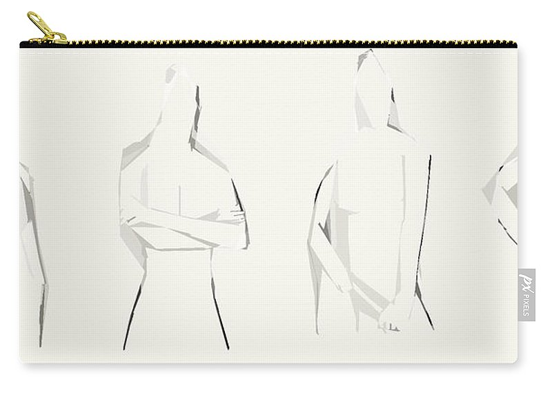Sketche Carry-all Pouch featuring the photograph Personality by The Artist Project