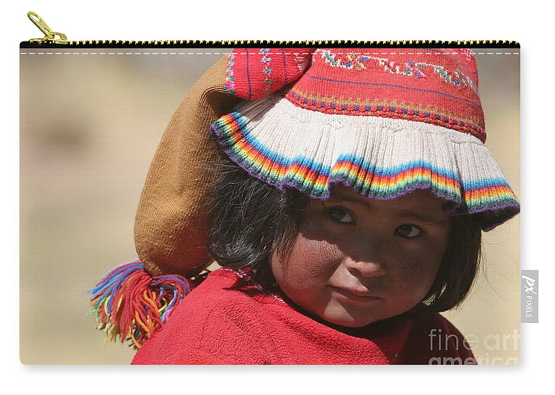 Travel Carry-all Pouch featuring the photograph Peruvian Child by Jason O Watson