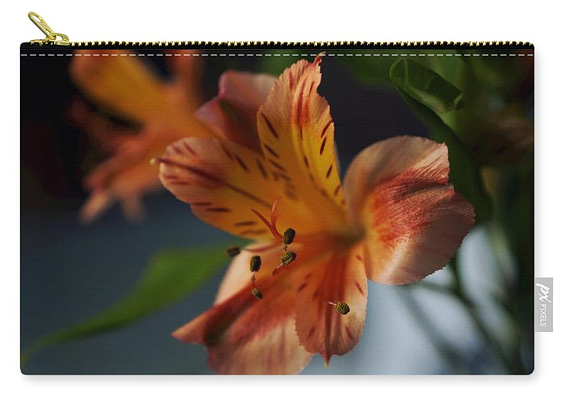 Matt Matekovic Carry-all Pouch featuring the photograph Peruvian Lily by Photographic Arts And Design Studio