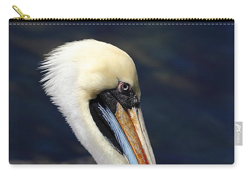 Pelican Carry-all Pouch featuring the photograph Peruvian Pelican Portrait by James Brunker