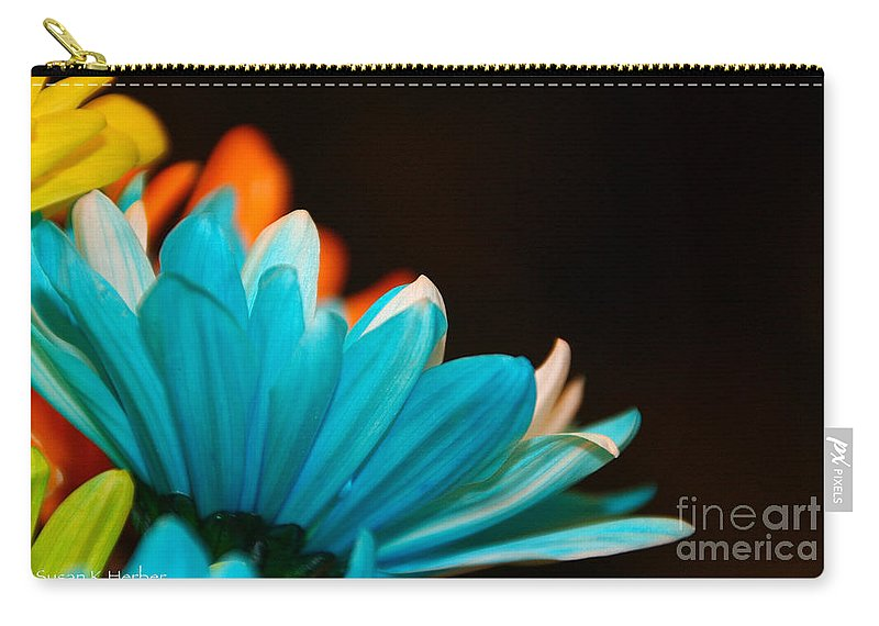 Flower Carry-all Pouch featuring the photograph Petal Paloza by Susan Herber