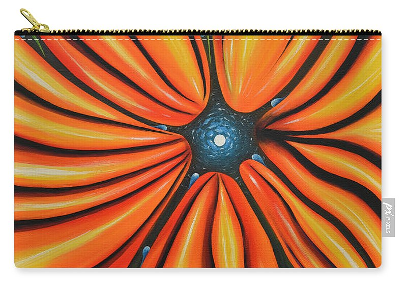 Mental Carry-all Pouch featuring the painting Petal To The Mental by Tony Oakey
