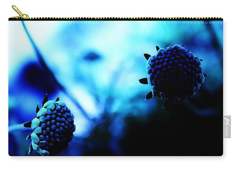 Blue Carry-all Pouch featuring the photograph Petalless by Jessica Shelton