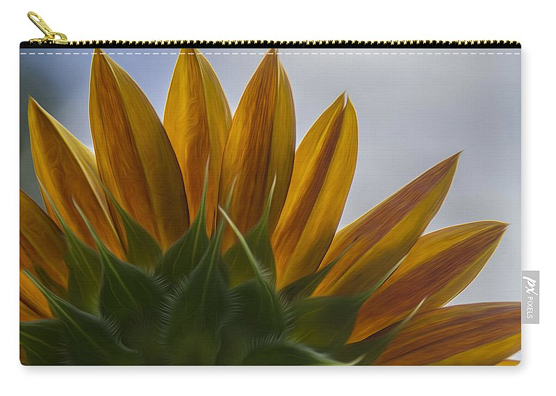 Sunflower Carry-all Pouch featuring the photograph Petals by Erika Fawcett