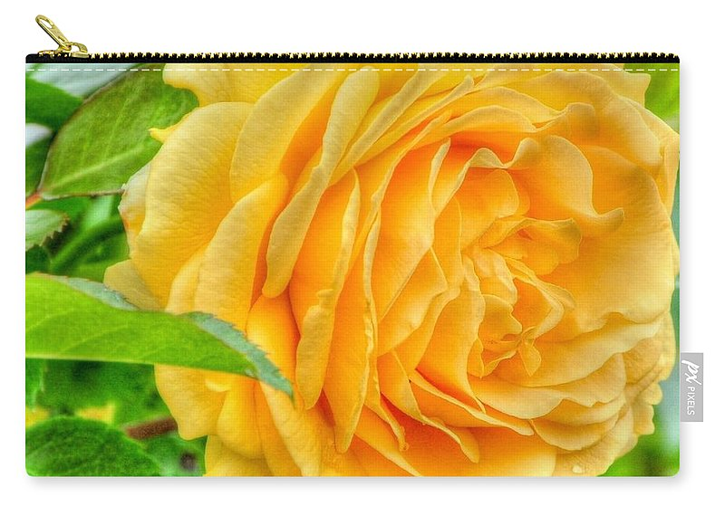 Floral Carry-all Pouch featuring the photograph Petals Of Sunshine by Charlotte Schafer