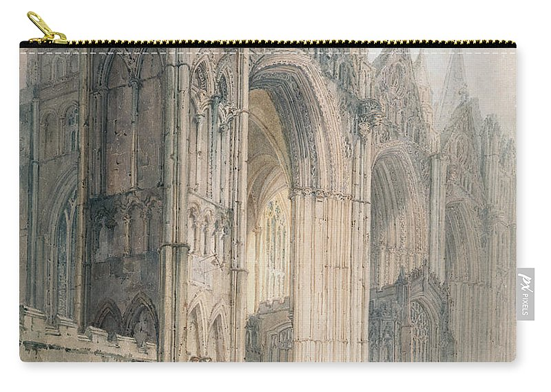 Architecture Carry-all Pouch featuring the painting Peterborough Cathedral by Thomas Girtin