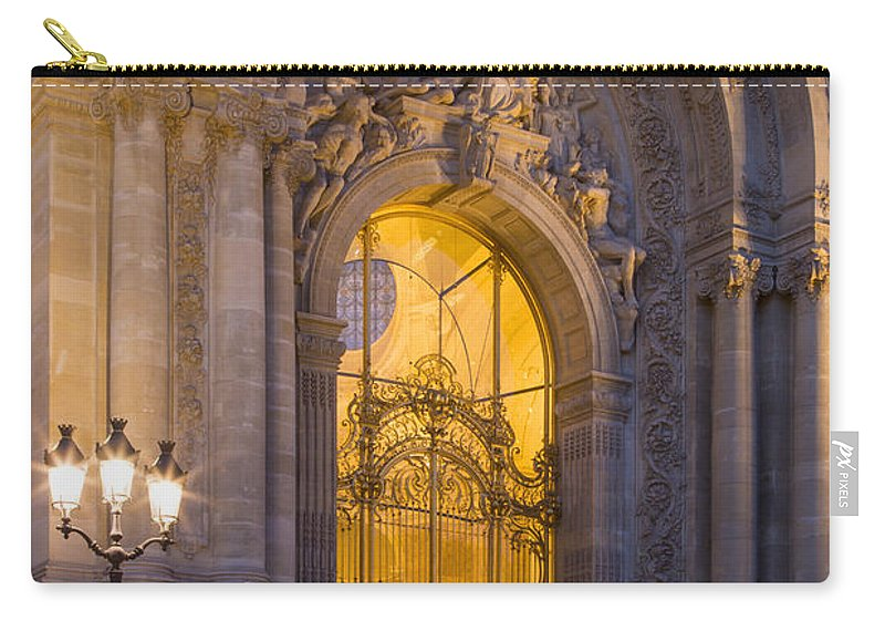 Arch Carry-all Pouch featuring the photograph Petite Palais Twilight by Brian Jannsen