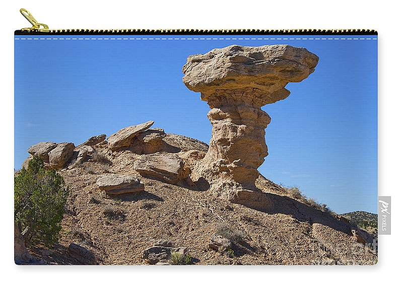Petrified Camel Carry-all Pouch featuring the photograph Petrified Camel by Gary Holmes
