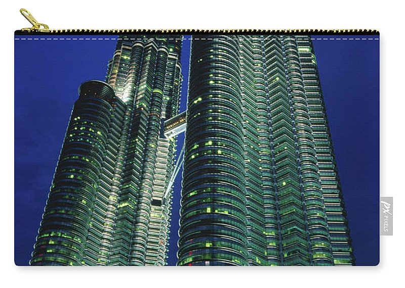 Southeast Asia Carry-all Pouch featuring the photograph Petronas Towers by John Elk