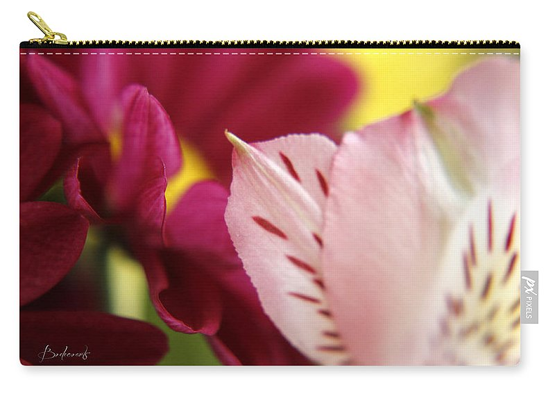 Flowers Carry-all Pouch featuring the photograph Petuliar Meeting by Robin Lewis