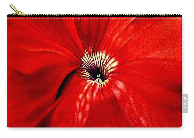 Peturnia Carry-all Pouch featuring the painting Petunia by Anni Adkins