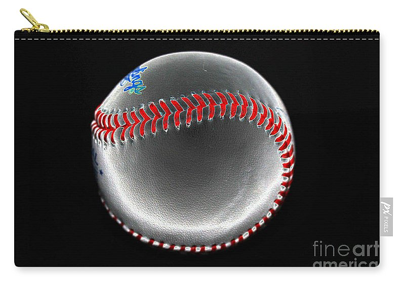 Baseball Carry-all Pouch featuring the photograph Pewter by David Bearden