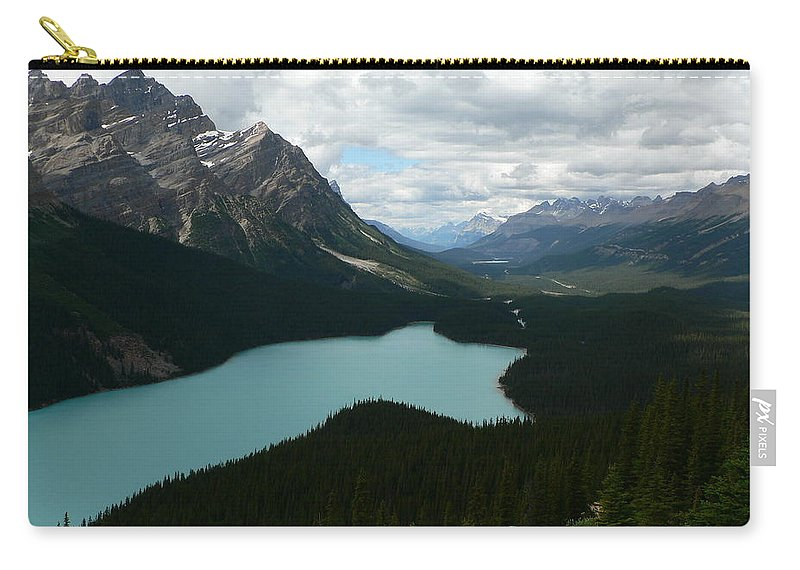 Peyote Carry-all Pouch featuring the photograph Peyote Lake In Banff Alberta by Laurel Best