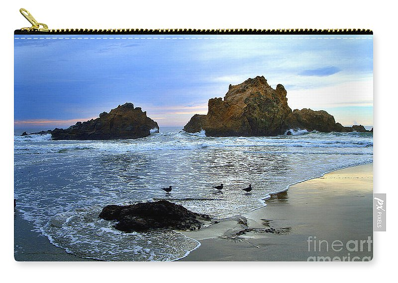 Twilight Carry-all Pouch featuring the photograph Pfeiffer Beach Big Sur Twilight by Charlene Mitchell