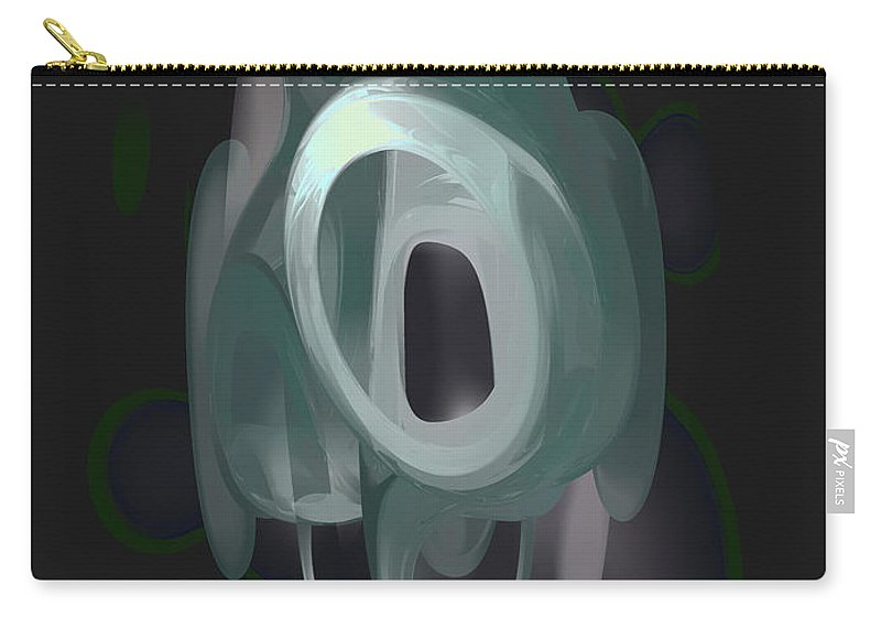 3d Carry-all Pouch featuring the digital art Phantasm Pastel Abstract by Alexander Butler
