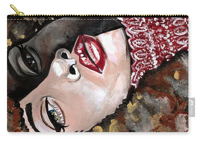 Sexy Carry-all Pouch featuring the photograph Phantom Beauty by Artist RiA