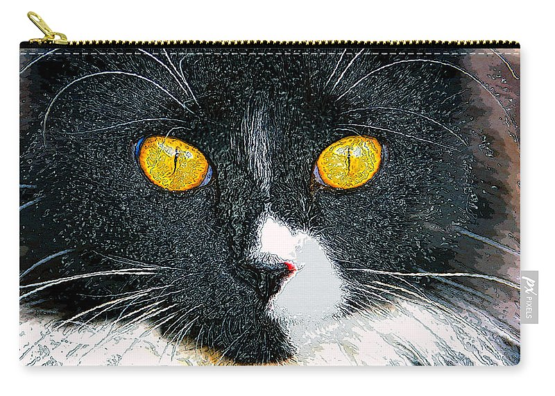 Cat Carry-all Pouch featuring the painting Phantom by David Lee Thompson