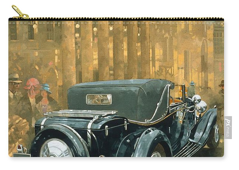 Rolls Royce Phantom Carry-all Pouch featuring the painting Phantom In The Haymarket by Peter Miller