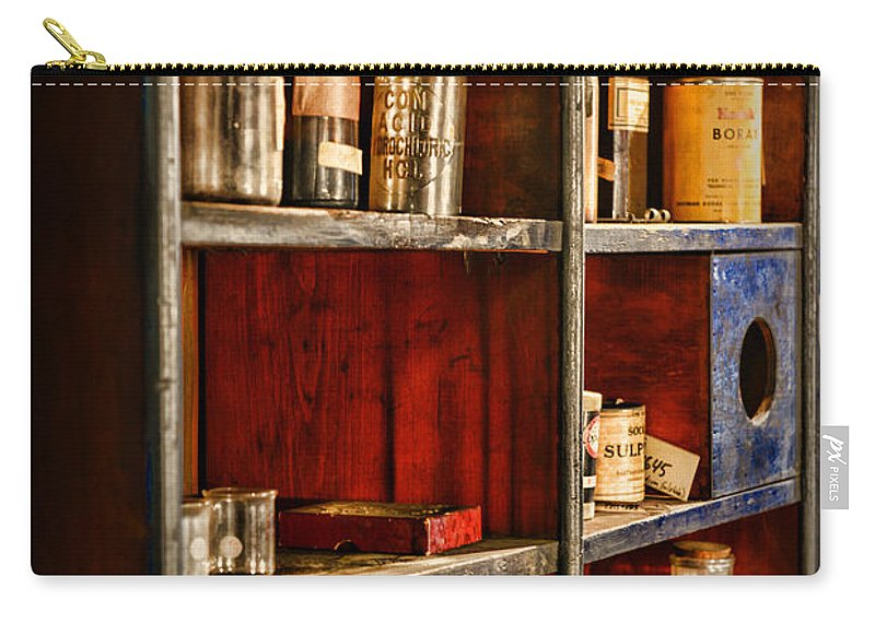 Paul Ward Carry-all Pouch featuring the photograph Pharmacy - The Back Room by Paul Ward