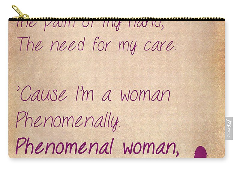 Phenomenal Woman Quotes 60 Carryall Pouch For Sale By Nishanth Beauteous Phenomenal Woman Quotes