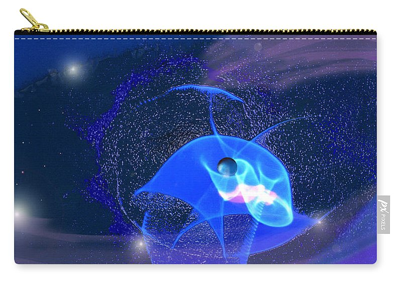 Space Carry-all Pouch featuring the digital art Phenomenon II by Steve Karol
