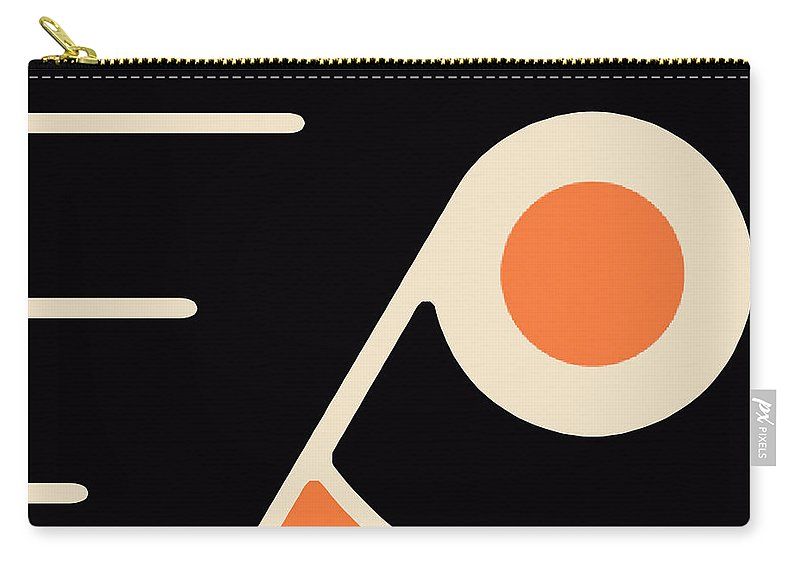 Philadelphia Carry-all Pouch featuring the painting Philadelphia Flyers by Tony Rubino