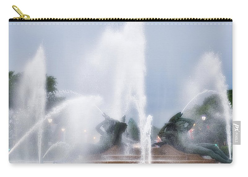 Fountain Carry-all Pouch featuring the photograph Philadelphia - Swann Memorial Fountain by Bill Cannon