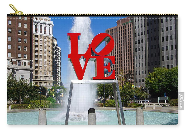 Philadelphia's Carry-all Pouch featuring the photograph Philadelphia's Love Park by Bill Cannon