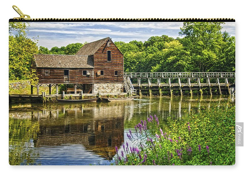 Mill Carry-all Pouch featuring the photograph Philipsburg Mill by Claudia Kuhn