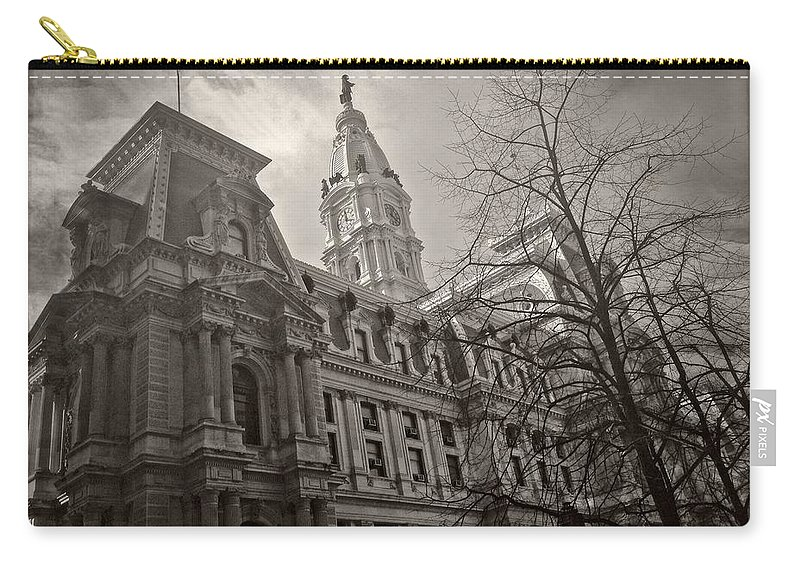 City Hall Carry-all Pouch featuring the photograph Philly City Hall by Alice Gipson