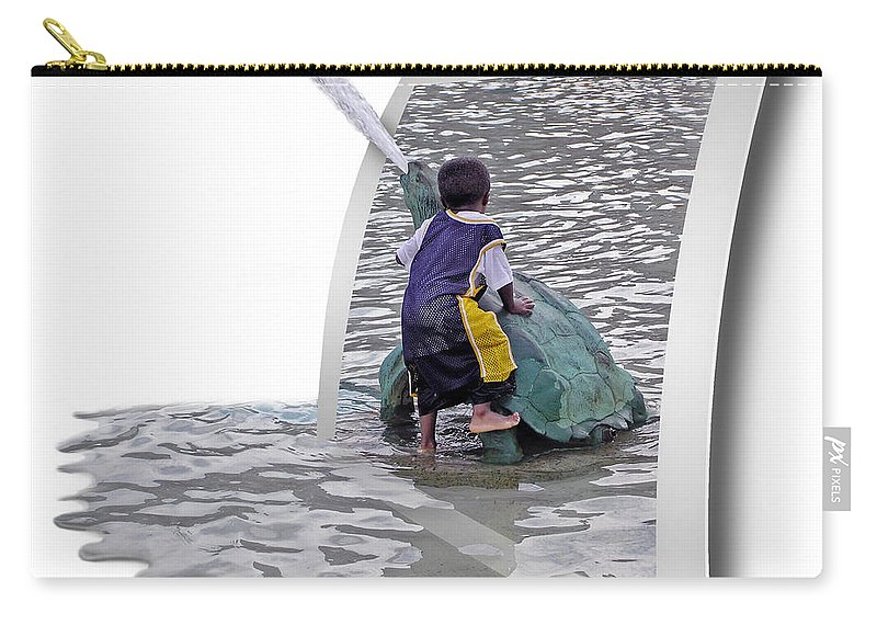 2d Carry-all Pouch featuring the photograph Philly Kid - Oof by Brian Wallace