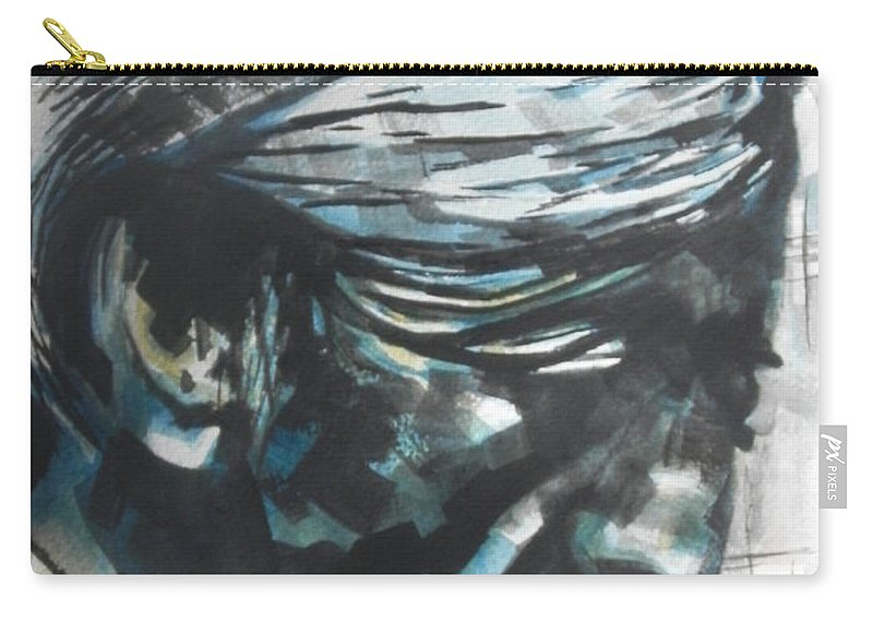 Watercolors Carry-all Pouch featuring the painting Philospher Jiddu Krishnamurti by Chrisann Ellis