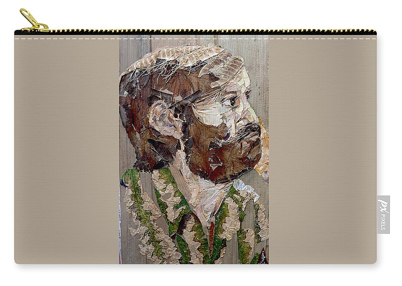 Portrait Carry-all Pouch featuring the mixed media Philospher's Vision by Basant Soni