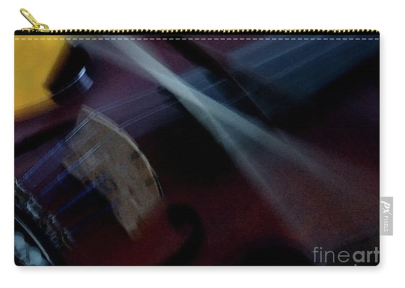 Violin Carry-all Pouch featuring the photograph Phoebe's Violin by Linda Shafer