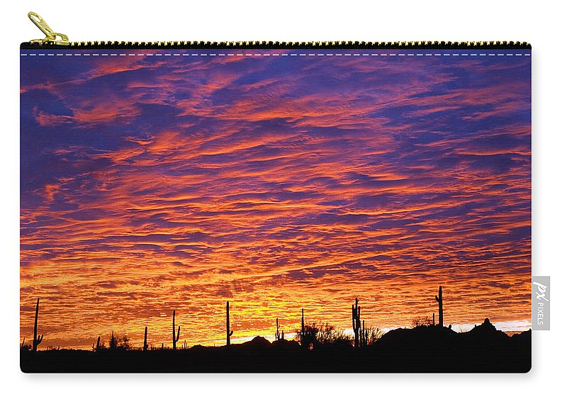 Phoenix Carry-all Pouch featuring the photograph Phoenix Sunrise by Jill Reger